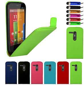NEW FLIP LEATHER CASE COVER FOR MOTOROLA MOTO G FREE SCREEN PROTECTOR 99p @ ebay   doohickey-hut