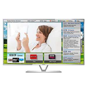 "Panasonic Viera TX-L47ET61B LED HD 1080p 3D Smart TV, 47"" with Freeview HD and 2x 3D Glasses @ John Lewis £699.95 (inc. free delivery)"