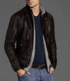 Massimo Dutti brown nappa leather reversible leather jacket - £79.95, reduced from £265