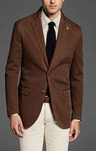Massimo Dutti brown cotton twill blazer £29.95 reduced from £99.95