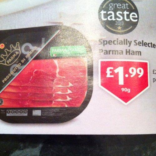 Aldi Parma ham - £1.99