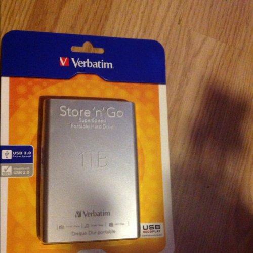 Verbatim 'store n go' 1TB external hard drive @ Sainsburys now £24