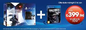 PS4 + Killzone Shadow Fall & Call Of Duty Ghosts - £384.97 - Gamestop (Starting Midnight)