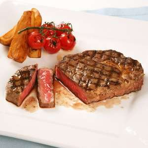 7 Steaks Selection, fully matured, grass-fed beef. PRICE £29.00 plus delivery. RRP £67.50 SAVE £38.50 - £34 @ donaldrussell
