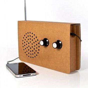 Cardboard Radio / Speaker - £16.95 (Was £21.95) @ Geniegadgets.com (+£1 delivery)