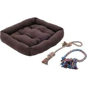 RSPCA Pet Bed with 2 Ropy Toys - Brown, was £14.99 NOW £5.99 @ Argos