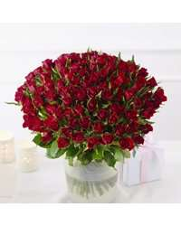 100 red roses £75.00 @ Waitrose Direct
