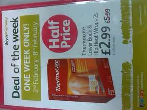 Thermacare heat wraps £2.99 @ Lloyds Pharmacy