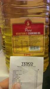 Tesco 5 litre vegetable cooking oil £3