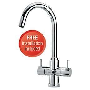 Brita Torlan 3-Way Filter Kitchen Tap + Free Installation @ ScrewFix - £137.49