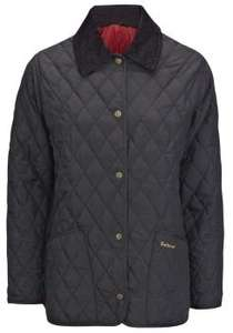 Ladies Barbour Eskdale quilted jacket in chocolate with free lambswool scarf £44.95 + £6.95 p&p from John Norris online