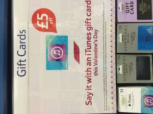 iTunes £25 gift card down to £20 @ Tesco