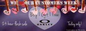 Buy one get one free Oakley Sunglasses TODAY ONLY @ Fashion eyewear