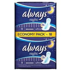 Always secure night ultra 18pk £1.49 at Savers