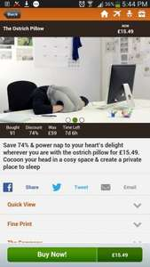 The Ostrich Pillow - great for power naps at work @ gogroopie - £15.49