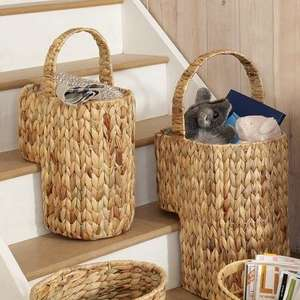 Water Hyacinth Collection Stair Basket @dunelm mill.  £7.49