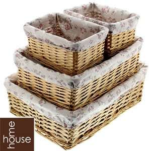 Buy Set of 4 Wicker Storage Baskets: Floral £9.99 at Home Bargains