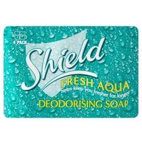 Shield Fresh Aqua Deodorising soap 4x115gr for £1.00 at Asda