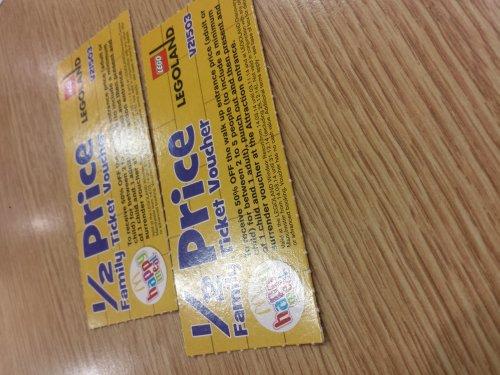 Half price family ticket voucher to lego land £2.29 @ McDonalds