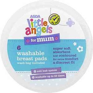 ASDA Little Angels for Mum 6 Washable Breast Pads £1.00 @ Asda Direct(freeC&C)