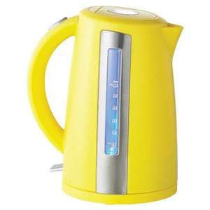 Sainsbury's Colour 1.7L Yellow Jug Kettle reduced to £7.99 (free click and collect orders over £15) *Matching toaster for just £5.99!* Link in post
