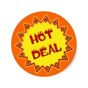 Hot deal stickers £5.25(a sheet of 20) at zazzle.co.uk
