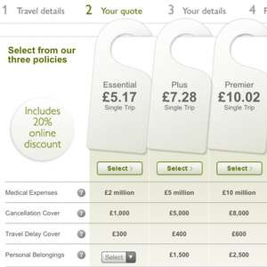 Free travel insurance and £9.87 cash! @ John Lewis