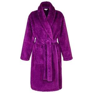 Fleece Waffle Robe Dressing Gown Purple/Red £10 @ John Lewis