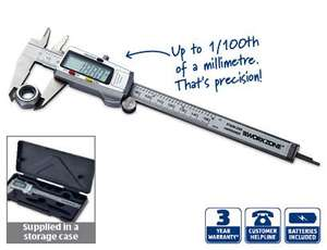 Precision Digital Vernier Caliper with 3 Year Warranty @ Aldi £8.99