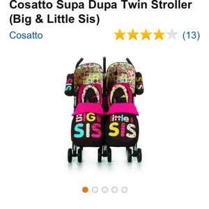Cosatto Big sis little sis double pushchair £164.95 @Amazon