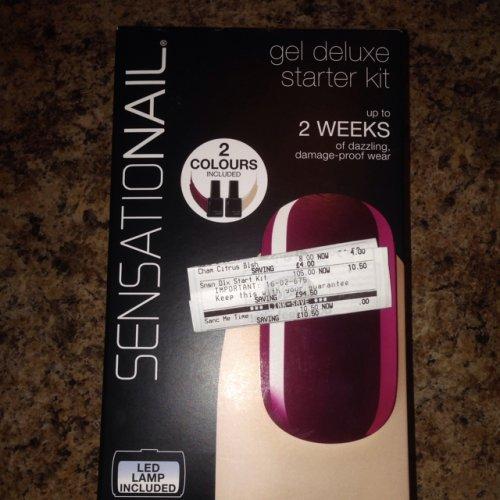 Sensationail gel deluxe nail starter kit at Boots - £10.50