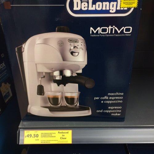 DeLonghi Motivo EC220W Espresso Coffee Machine tesco instore £49.50
