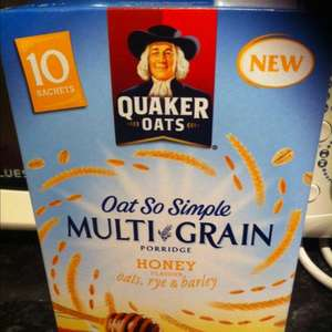 Quaker Oats So Simple Multi Grain Porridge £1 for 10 Sachets in Tesco