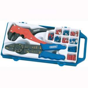 ASDA £14 (Cheapest I could find)  Draper 6 Way Crimping And Wire Stripping Kit 33079 £14.40