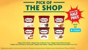 Haagen Dazs 500ml Ice Cream all flavours - better than half price at Morrisons just £2
