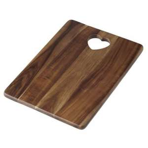 Heart Handle Wooden Chopping Board   @sainsburys.  Now £4.50