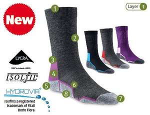 Technical Merino Blend Socks £3.99 @ Aldi