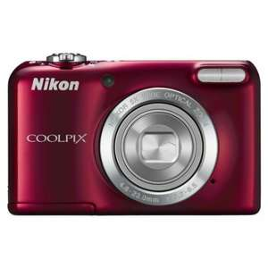 "Nikon Coolpix L27 16.1MP 5x Optical Zoom 2.7"" LCD Red Compact Digital Camera £39.99 @ Sainsburys Online and collect in-store"
