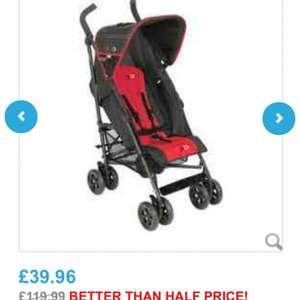 "Babies""R""us swift stroller in silver/grey & blk/red £39.96 @ Babies""R""us"