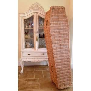 Wicker coffin, £145 the coffin company
