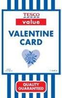 Valentine's card 1p @ tesco