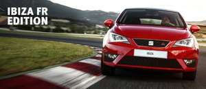 """NEW Special Edition Seat Ibiza 3dr 1.4 TSI ACT FR Edition @ DriveTheDeal 23% off list price - £12,564.17 - 0-60mph 7.8 secs, 140bhp, 60.1mpg (combined), Sat Nav, Bluetooth, 17"""" , Emoticon Red"""
