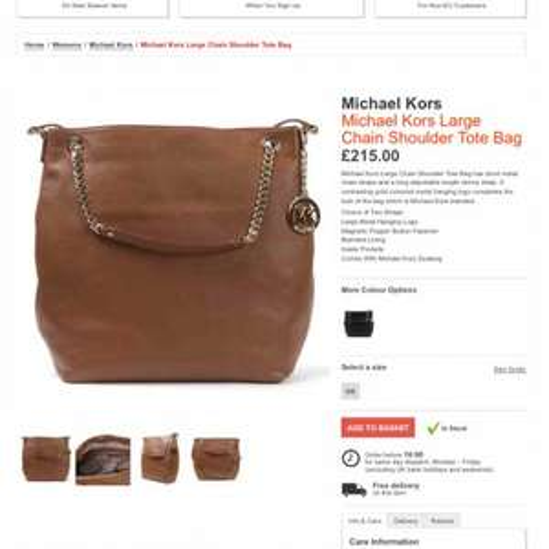Michael kors large handbag £172 @ Masdings