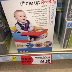 Red Kite sit me up zoo inflatable ring - £6.50 instore @ morrisons