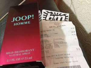 Joop homme deodorant £9.99 at B&M  Bargains