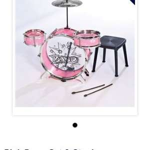 Girls drum kit was £39.99 now £8.99 @ 24Ace(4.99 delivery)