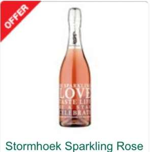 Morrisons WINE DEAL Stormhoek sparkling rose wine £3.99
