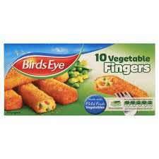 10 Birds Eye Vegetable Fingers 2 Packs for £1.50 @ Farmfoods Telford.