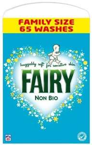 Fairy Non-bio Washing Power 5.2kg 65 Washes £7.52 or £6.86 S&S (add on item) @ Amazon