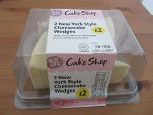 New York Style/Raspberry/Chocolate Cheesecake - Pack of Two Wedges - £2  BOGOF - Morrisons